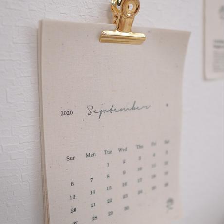 ファブリックカレンダーSクリップver(名入れ不可)【2020-2021年度】
