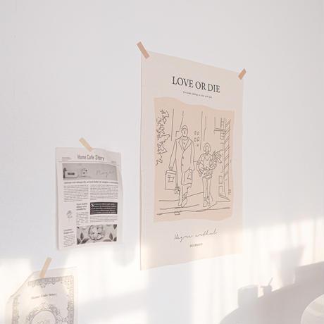 ファブリックポスター【LOVE OR DIE】