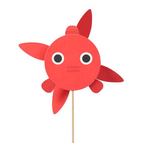 風ぐるま 金魚