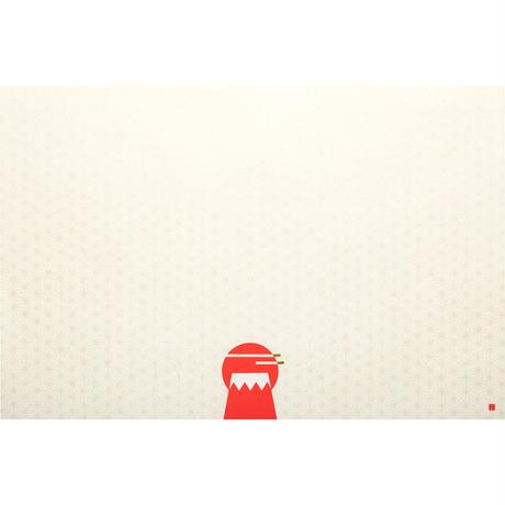 縁起物/敷き紙 赤富士(小)