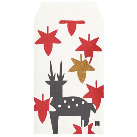 ぽち袋 紅葉に鹿