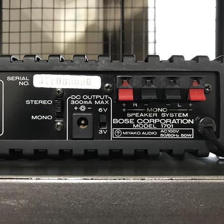 BOSE1701 パワーアンプ 47F060090 曽我様オーダー品