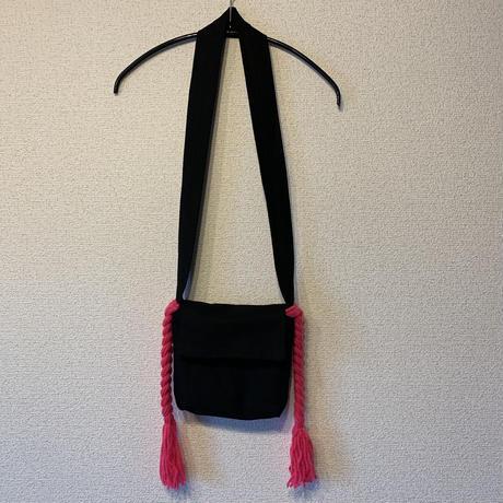 三つ編みポシェット:ピンク