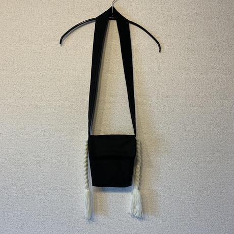 三つ編みポシェット:ホワイト