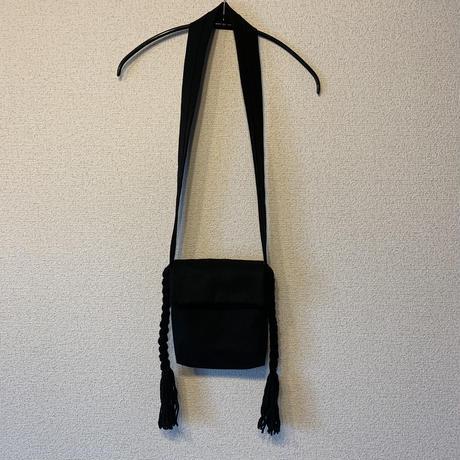 三つ編みポシェット:ブラック