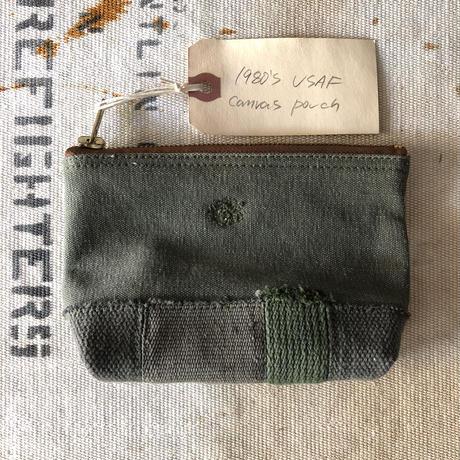 Vintage canvas pouch