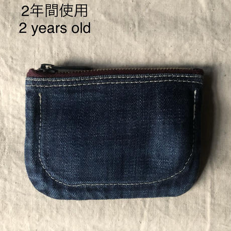 Jpanese Denim Cash,Card,Coin Pouch
