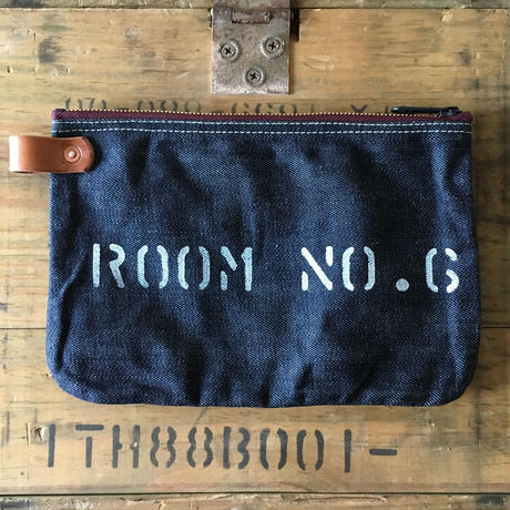 Japanese Denim  Banker Pouch