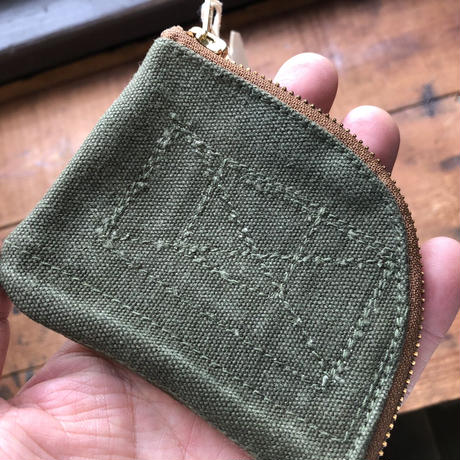 1960's canvas coin case (057)