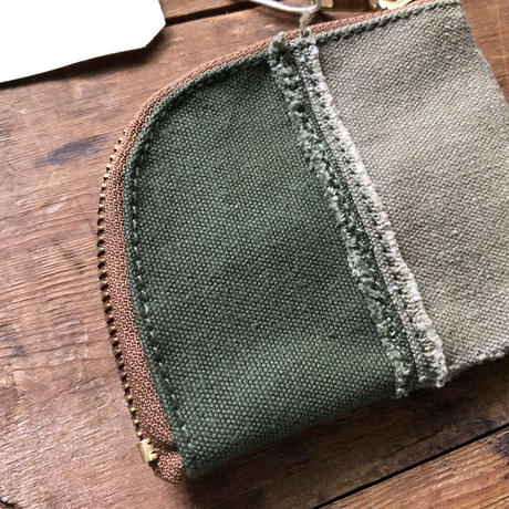 vintage canvas coin case #3