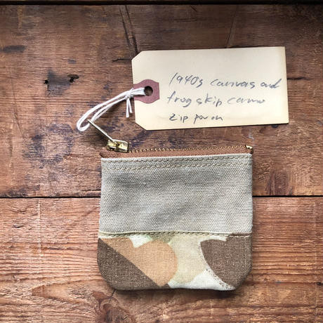 1940's canvas and duck hunter camo pouch (048)