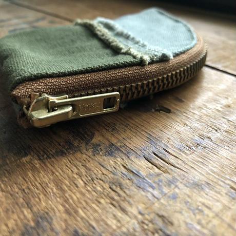 vintage canvas coin case #2