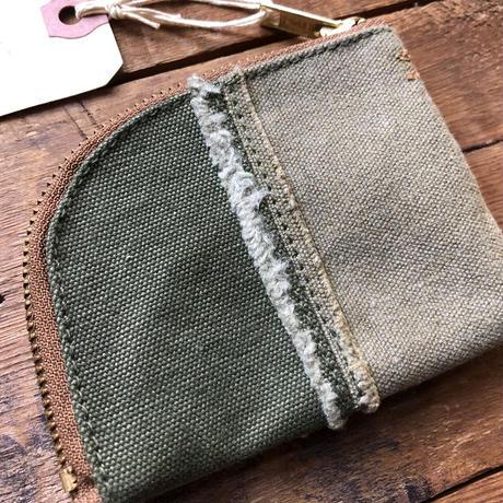 vintage canvas coin case (040)