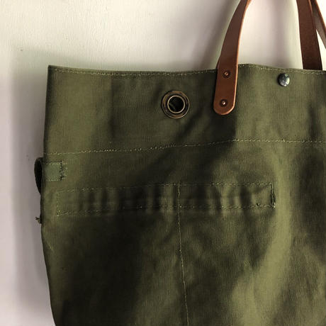 #1366 1950's duffle messenger bag