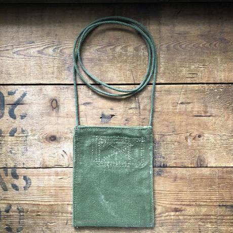 1940〜50's canvas neck pouch#1
