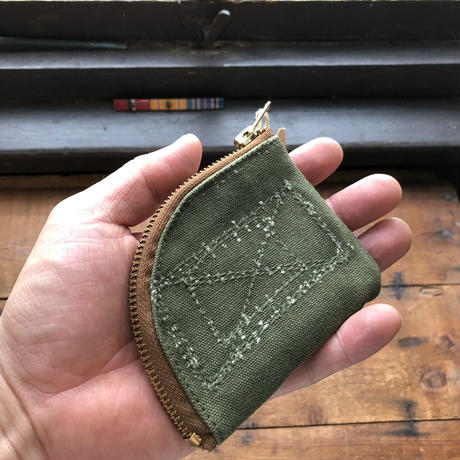 1950's canvas coin case (058)