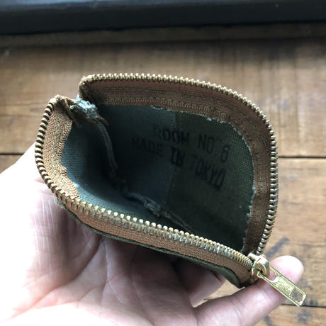 vintage canvas coin case #1