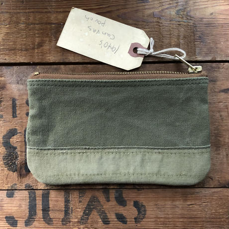 1940's canvas pouch