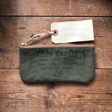 Vintage canvas pouch (064)