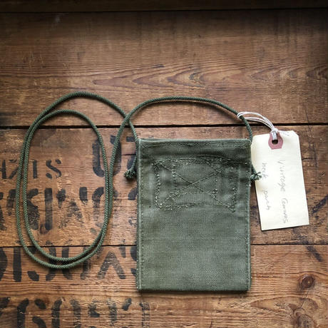 1940〜50's canvas neck pouch