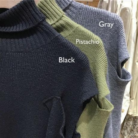 4color: Open Shoulder Turtle Knit  送料無料 146