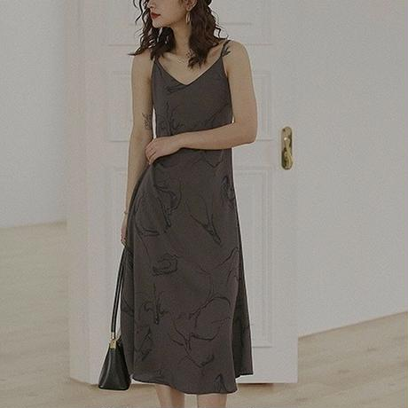2color : Nuance Marble Camisole Dress 90191 送料無料