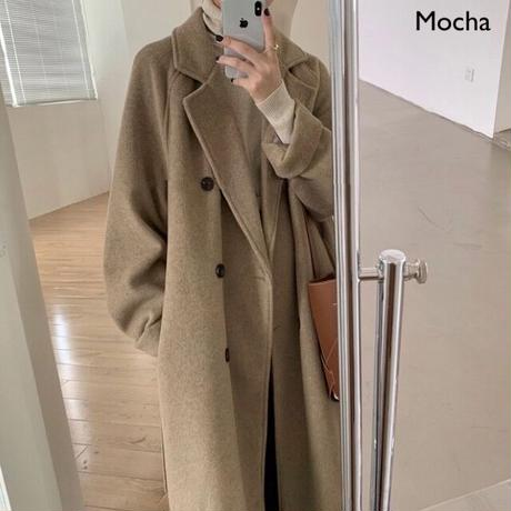 2color : Wool Blend Double Coat 90261 送料無料