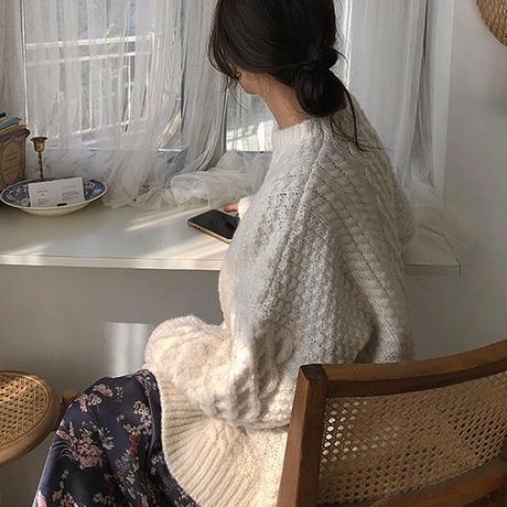 【即納】 2color : Loose Aran Knit 90234 送料無料