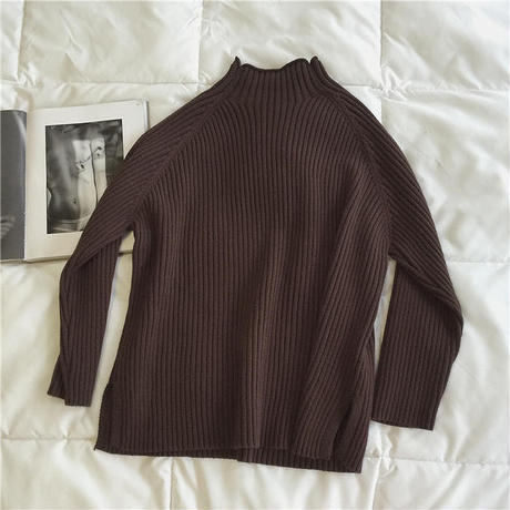 5color: Mockneck Rib Volume Knit  131 送料無料