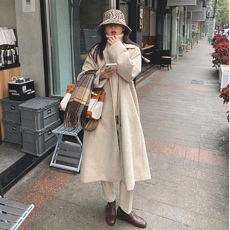 《Brown》Soutien Collar Wool Coat 90260 送料無料