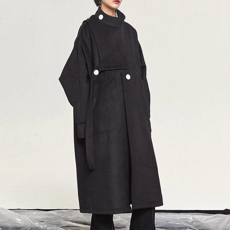 2color : Mode Style Wool Coat 90280 送料無料