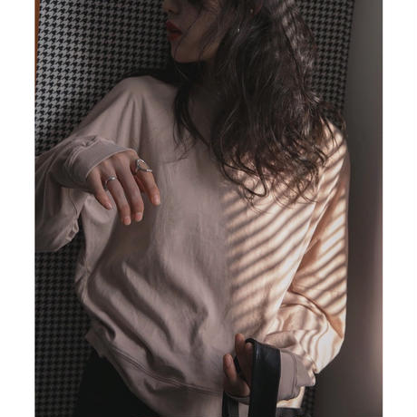 3color : Drop Shoulder Long T-shirts 176 送料無料