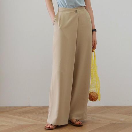 2color : Overlap Wide Pants  172 送料無料