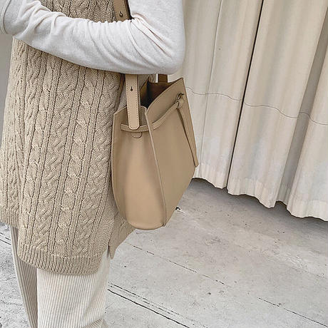 2color : Vneck Cable Knit Vest 90237 送料無料