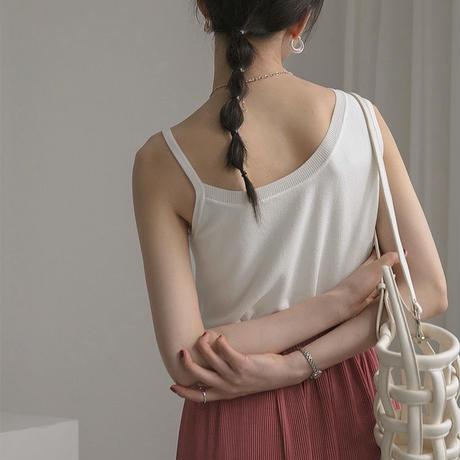 2color:Asymmetry Knit Tanktop 90200   送料無料