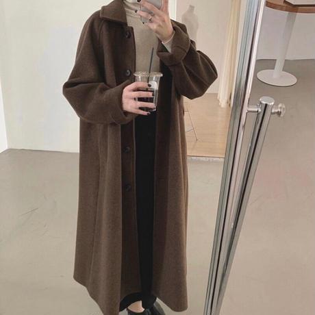 《Mocha》Soutien Collar Wool Coat 90260 送料無料