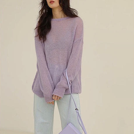 3color : Sheer Spring Color Knit 165 送料無料