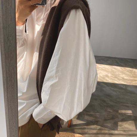 2color : Bishop sleeve Blouse 90305 送料無料