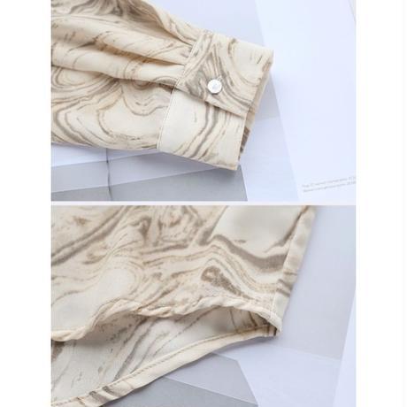 ■再販◾️2type : Nuance Marble Shirts  90160 送料無料