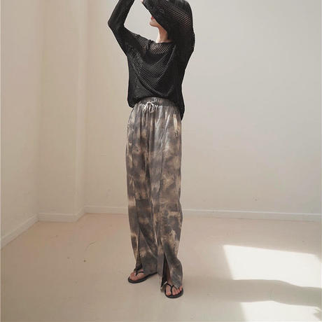 Tie-dye Slit Pants 214 送料無料