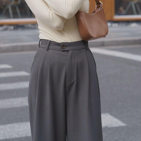 2color : Emerald Color Double Tack  Trousers 90256 送料無料