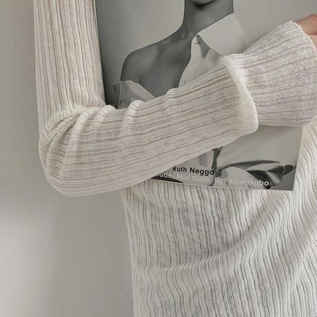 7color : Wool & Cashmere Blend Random Rib Knit 90235 送料無料