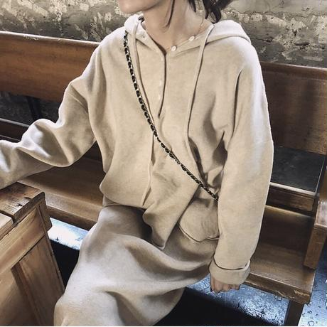 2color:Hoodie Knit Set up 送料無料