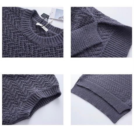 2color : Jagged  Rough Gauge Knit Vest  90223 送料無料
