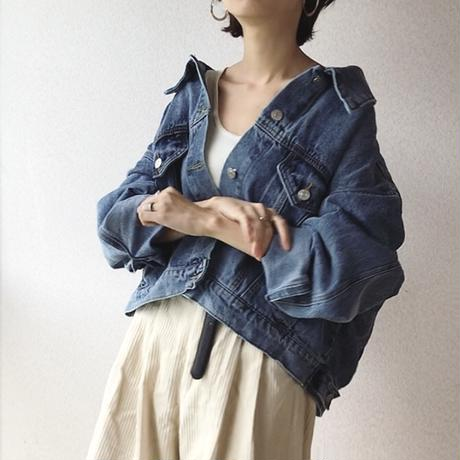 Vintage like Drop shoulder Denim jacket 送料無料