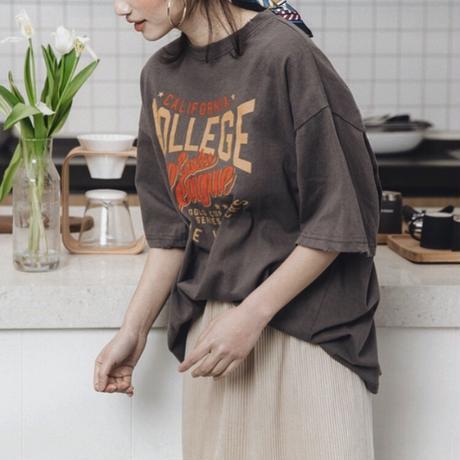 4color:Damage COLLEGE Tshirts 送料無料