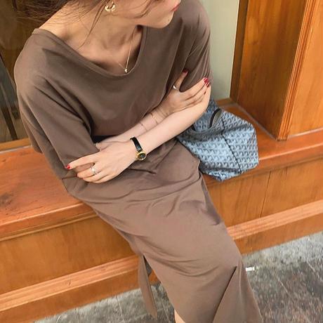 【即納】 5olor : Back open Tie One-piece  90205  送料無料