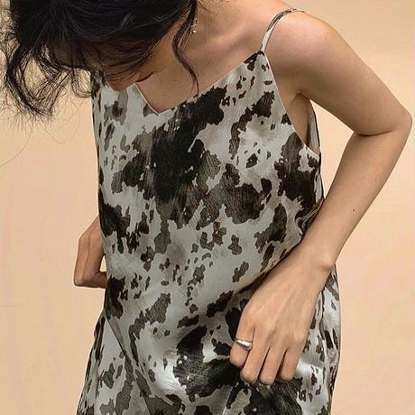 Monotone Pattern Dress 90225 送料無料