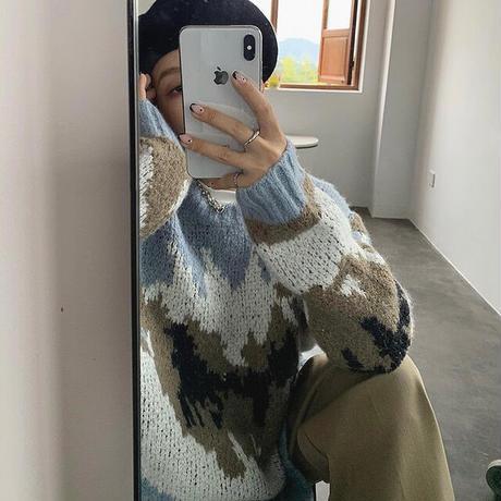 Mix Color Nuance Design Knit 90272 送料無料