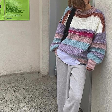 Multi color Knit 90245 送料無料